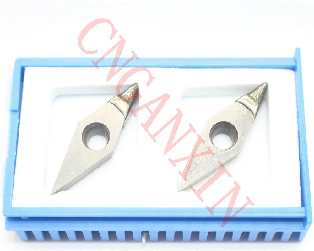 High-precision 2pcs NEW PCD DCGT11T304 PCD Diamond CNC blade insert