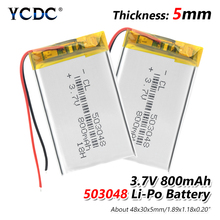 1/2/4 Pieces 48x30x5mm Rechargeable 503048 800mAh Li-ion Battery 3.7V Volt Li-polymer Li-po Lithium With PCB Module