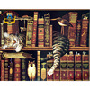 HOME BEAUTY 5d Diy Diamond Cross Stitch Books And Cat Diamond Painting Embroidery Mosaic Rhinestones Picture