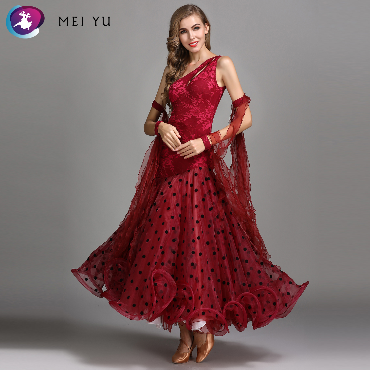 Frugal Mei Yu My784 Modern Dance Costume Women Lady Adult Waltzing Tango Backless Dancing Dress Ballroom Costume Evening Party Dress Stage & Dance Wear