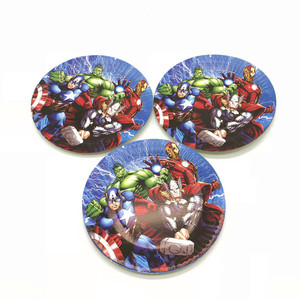 Image 3 - 100PCS/LOT 20 Person Happy Birthday Kids Disney Superhero Baby Shower Party Decoration Set Banner Straws Cups Plates Supplier