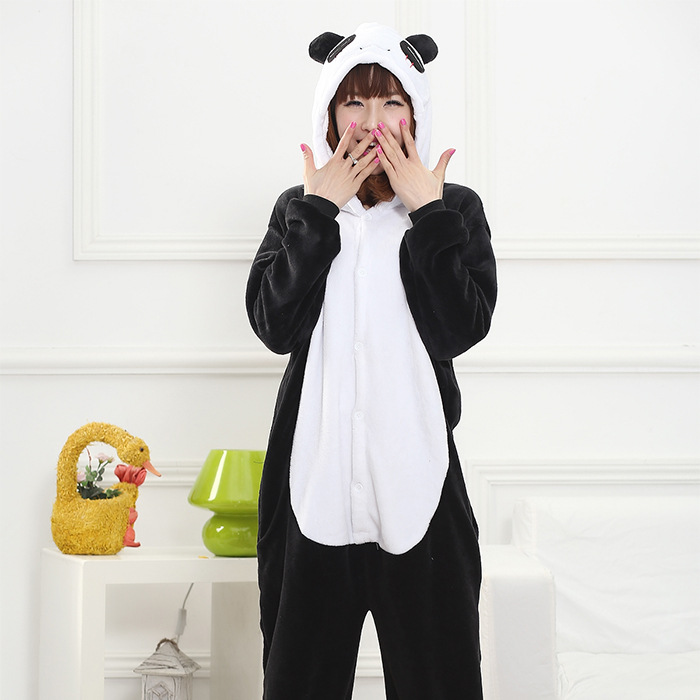 Panda Onesie Anime Pajamas Unisex Adult Pajamas Costume Unisex Adult Onesie Adult Panda Costume Sleepwear