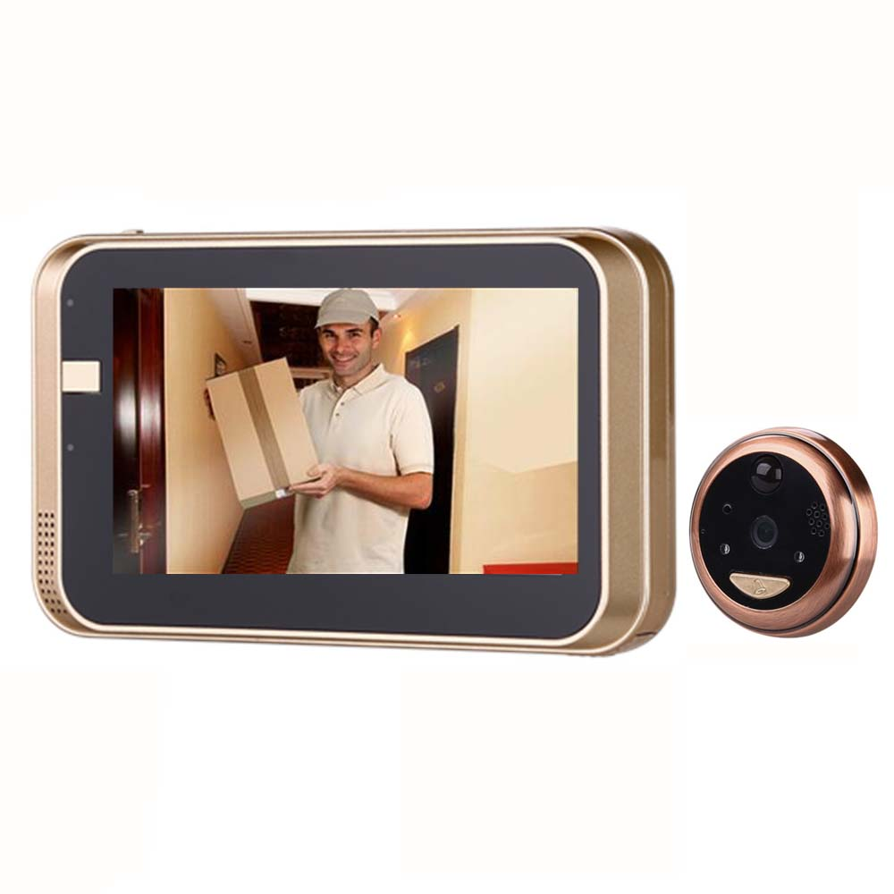 4.3Inch Peephole WiFi HD720P Doorbell With Camera Intercom APP Remote Control For IOS Andriod PIR Motion Detect Alarm Video Eyes