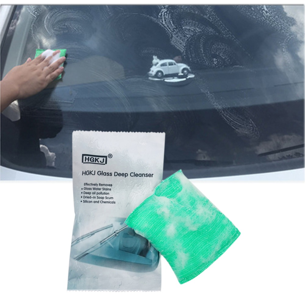 Car Glass Oil Film Scratch Removing Cleaning Washing Sponge Removed Dirt Scratches Grease Resins Repair Sponge Universal