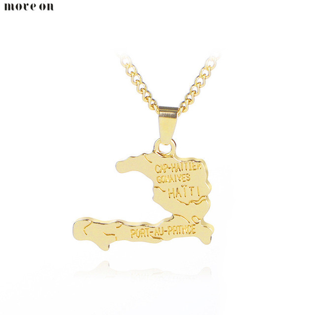 Fashion jewelry haiti map necklace pendant alloy world maps fashion jewelry haiti map necklace pendant alloy world maps necklaces choker long chian everyday bijoux for gumiabroncs Image collections