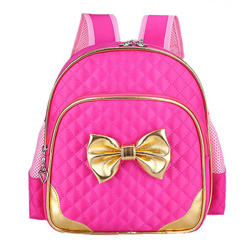 Kindergarten Children Schoolbag Princess Bow Cute Backpack Baby Girls School Bags Kids Satchel Baby Backpack Mochila Infantil 2016 cartoon princess elsa school bags for girls children mini schoolbag kids bookbags kindergarten mochila