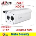 Original Dahua 1MP 720P DH-HAC-HFW1000B HDCVI camera  Water-proof IR 50M Bullet Camera Security CCTV Camera HFW1000B