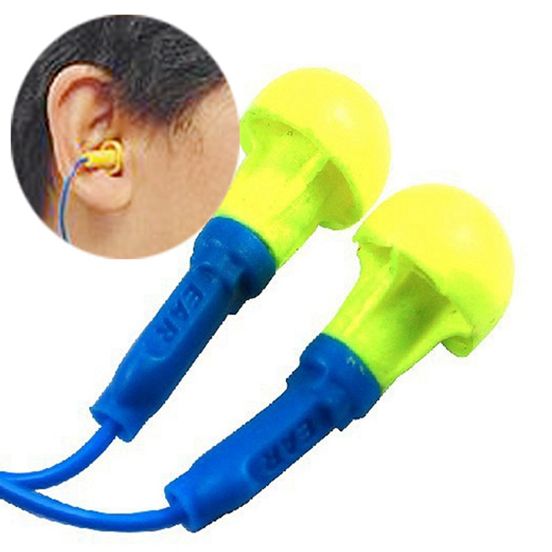 New Soft Foam Corded Ear Plugs Ears Protector Reusable Hearing Protection Noise Reduction Earplugs Earmuff Sleep 30 200 pairs soft silicone corded ear plugs ears protector reusable hearing protection noise reduction earplugs earmuff