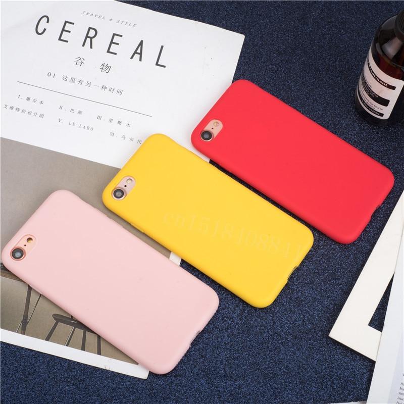 Custodia sottile di lusso in morbido colore per Iphone 7 8 6 6s Plus 5s Se Cover posteriore in Silicone Capa per Iphone X Xs 11 Pro Max Xr 12 Mini 2