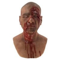 Luxurious gory realistic Props Halloween scary special effect makeup silicone mask for Movie