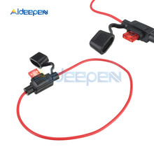 5Pcs Waterproof Auto Inline Mini In-Line Fuse Holder 10A Automotive Blade Fuse Holder Car Accessories