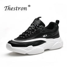 Thestron Spring Autumn Jogging Shoes Brand Male Men Original Black White Boys Running Shoe Pu Leather Gym Sneakers For