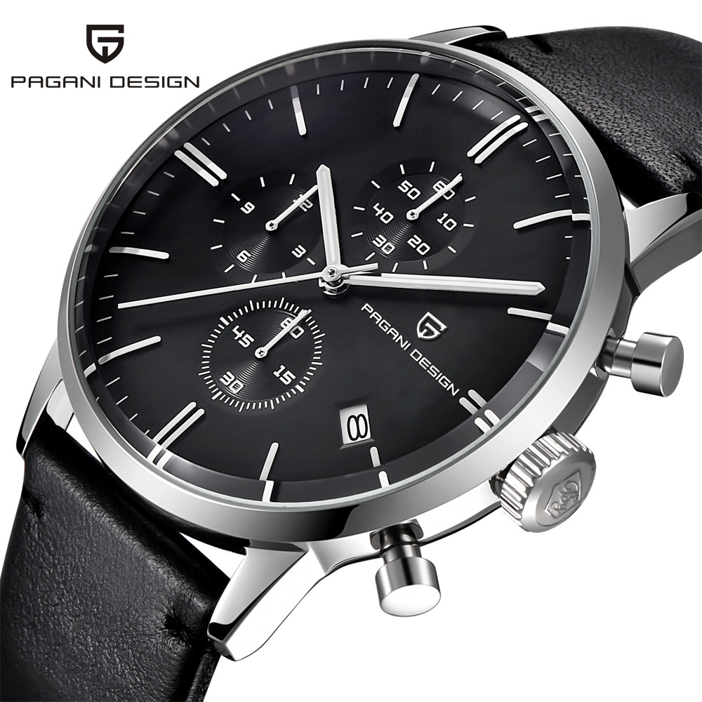 PAGANI DESIGN Men Watches Leather Strap Quartz Business Waterproof Sport Wrist Watch Male Clock hodinky relogio masculino