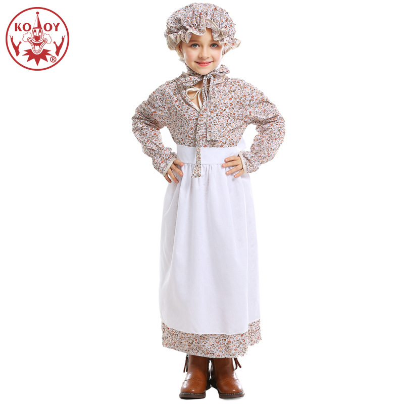 Little Red Riding Hood Wolf Grandmother Costume Halloween Costume For Kids Farmer Girl Fairy tale theme suit