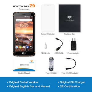 "Image 5 - الأصلي النسخة العالمية HOMTOM ZJI ZOJI Z9 6 GB 64 GB IP68 5500 mAh للماء الروبوت 8.1 5.7 ""الوجه بصمة ID 4G الهاتف الذكي"