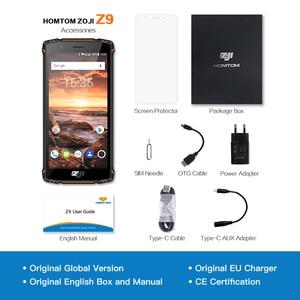 "Image 5 - HOMTOM ZOJI Z9 IP68 עמיד למים Helio P23 אנדרואיד 8.1 אוקטה core Smartphone 5.7 ""6 GB 64 GB 5500 mAh פנים מזהה טביעת אצבע טלפון נייד"