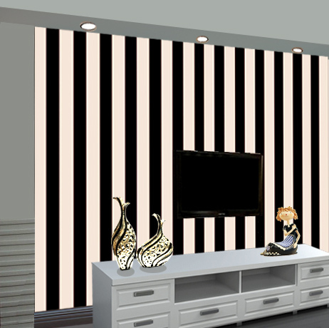 Fashion Simple Black And White Horizontal Vertical Stripes Wallpaper Bedroom Living Room Tv Background