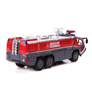 Image 3 - 1:50 İtfaiye havalimanı itfaiye kamyonu model alaşım araba oyuncak modeli geri çekin ses ışık oyuncak çocuklar için hediyeler ücretsiz kargo