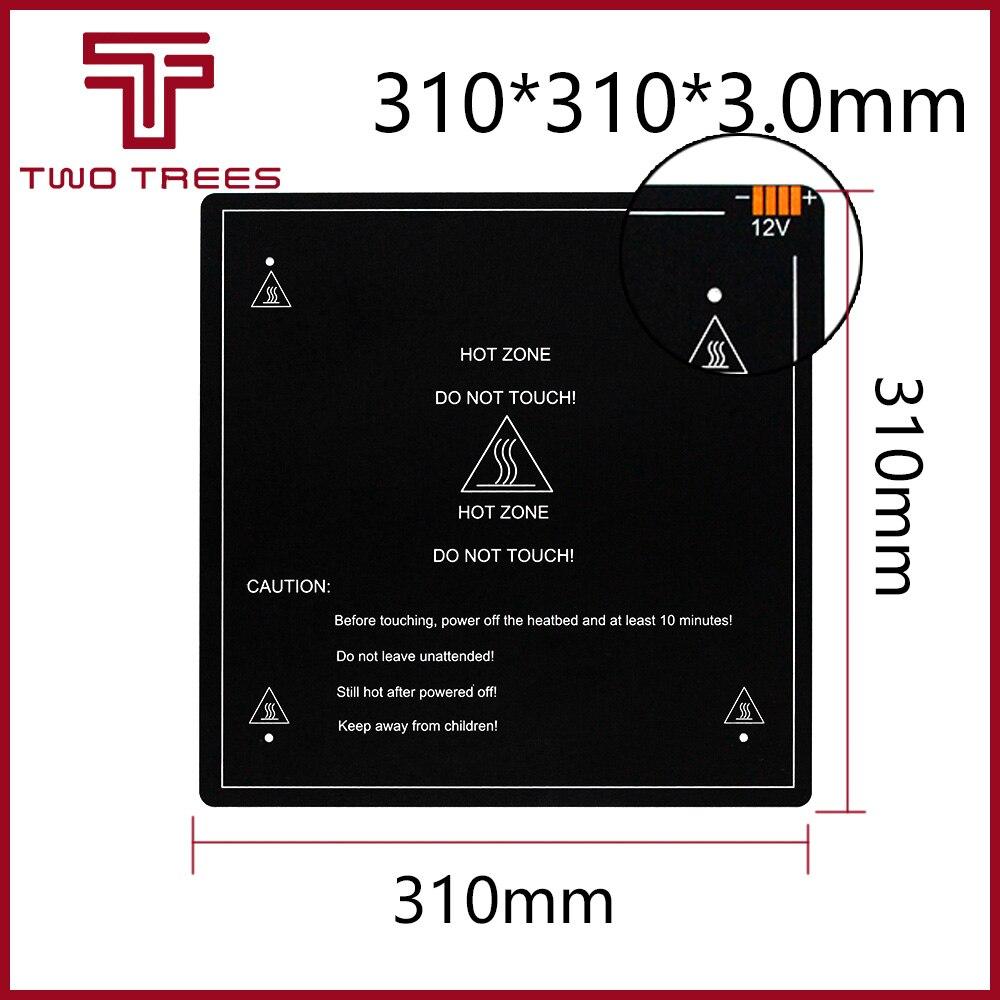 300*300*3.0mm 3D Printer Parts 1PCS Black MK3 Hotbed Latest Aluminum Heated Bed For Hot-bed Support 12V 310*310*3.0mm 12V/24V