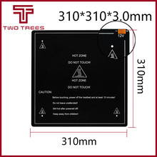 300*300*3.0mm części drukarki 3D 1 sztuk czarny MK3 hotbed najnowsze aluminium podgrzewane łóżko dla Hot bed wsparcie 12V 310*310*3.0mm 12 V/24 V