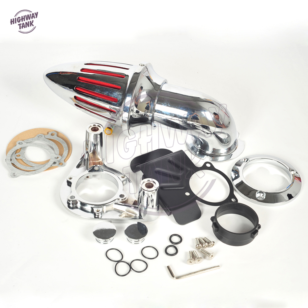 Chrome Aluminum Motorcycle Spike Air Cleaner Intake Filter case for Harley Sportster XL 883 1200 XL883 1991-2006