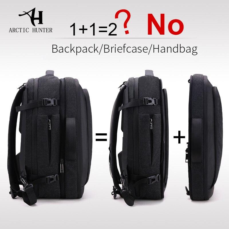 ARCTIC HUNTER Detachable Multifunctional 17 Inch Laptop Backpacks for Business Male Mochila Men Travel Backpack Shoulder BagARCTIC HUNTER Detachable Multifunctional 17 Inch Laptop Backpacks for Business Male Mochila Men Travel Backpack Shoulder Bag