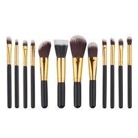 12pcs Set Makeup Brushes Make Up Tool Cosmetic Eye Brushes Set Eyeshadow Foundation Mascara Blending Pencil