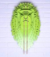 Nodic голова льва для декора стен, ремесло древесины, Декор, головы животного, деревянные украшения, деревянные животные голова стены, резьба п