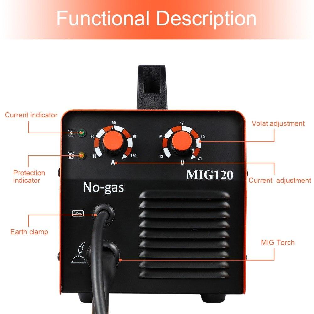 HITBOX Mig soudeur sans gaz 220V MIG1200 Mag soudeurs fer acier soudage équipement MIG MAG soudeuse Portable - 5