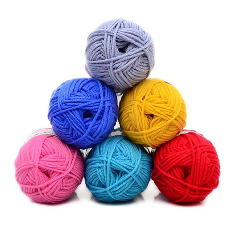 26Colors 100g Knitting Milk Cotton Wool Baby Children Soft Crochet Knit Yarn