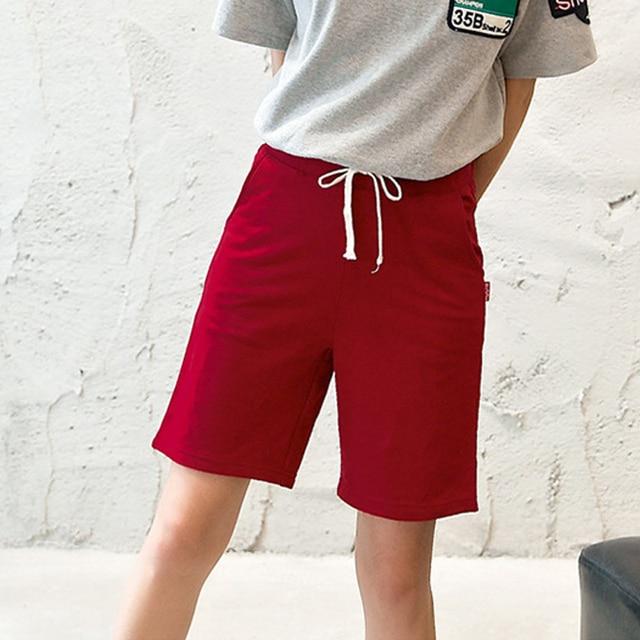 Plus Size S-XXL Cotton Loose Women Shorts 2017 Summer Fashion Short Feminino Casual Solid Shorts Female Clothing Ladies Shorts