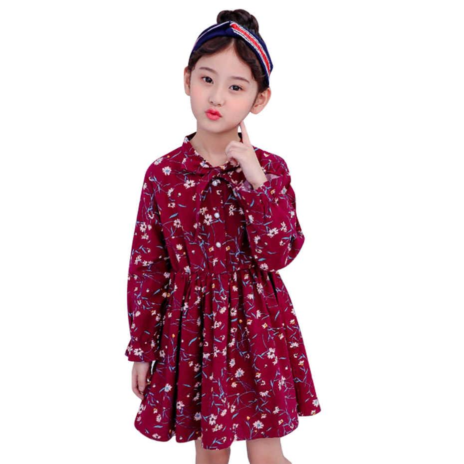 d7b69d5d Vestidos para niñas patrón de flores Vetement niños niñas primavera 2019  vestido de fiesta para niñas