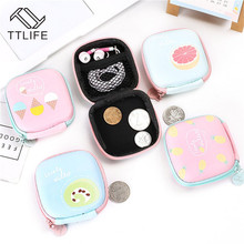 TTLIFE Women Mini Zipper Coin Purse Cartoon Fruit Banana Small Change Purse Wallet Pouch Bag for Kids Gift Organizer Storage Bag etya women coin purse cartoon cute headset bag small change purse wallet pouch bag for kids gift mini zipper coin storage bag