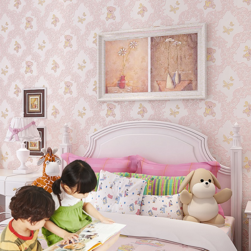 Online buy wholesale teddy bear wallpapers from china for Latest 3d wallpaper for bedroom