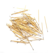 Electronic Instrument Tool PL50-A Total Length About 27.8mm Test Probe Spring Brass Gold Plated For Circuit Board