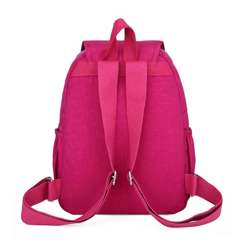 Повседневный 100% оригинальный нейлоновый рюкзак женский Bolsa маленький школьный рюкзак для девочки-подростка ноутбук рюкзак для путешествий сумка Mochila Escolar