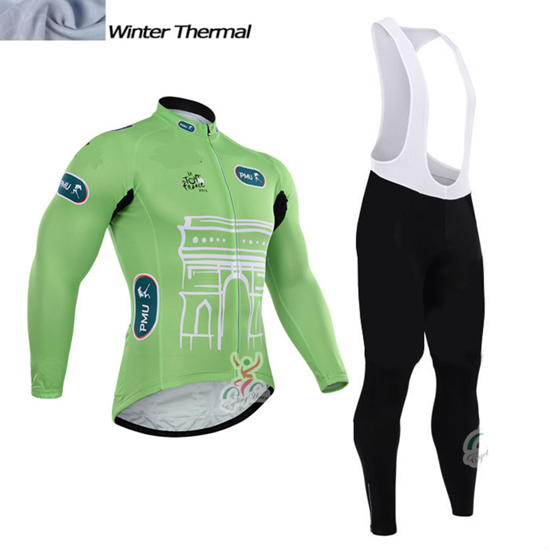 2016 New winter thermal fleece cycling clothing long sleeves pro team mtb bike cycling clothing Ropa ciclismo red yellow green 2016 new arrivals hot men s cube cycling thermal fleece jersey bib pants sets pro team mtb bicycle clothing bicicleta bike k0709