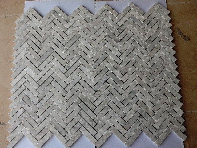 Kostenloser Versand Grau Marmor Glas Mosaik Fliesen Grau Steinmauer