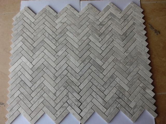 € 266.7 |Livraison gratuite gris marbre verre mosaïque carrelage gris  pierre mur carrelage pour salle de bain mur frontière escaliers porche, ...