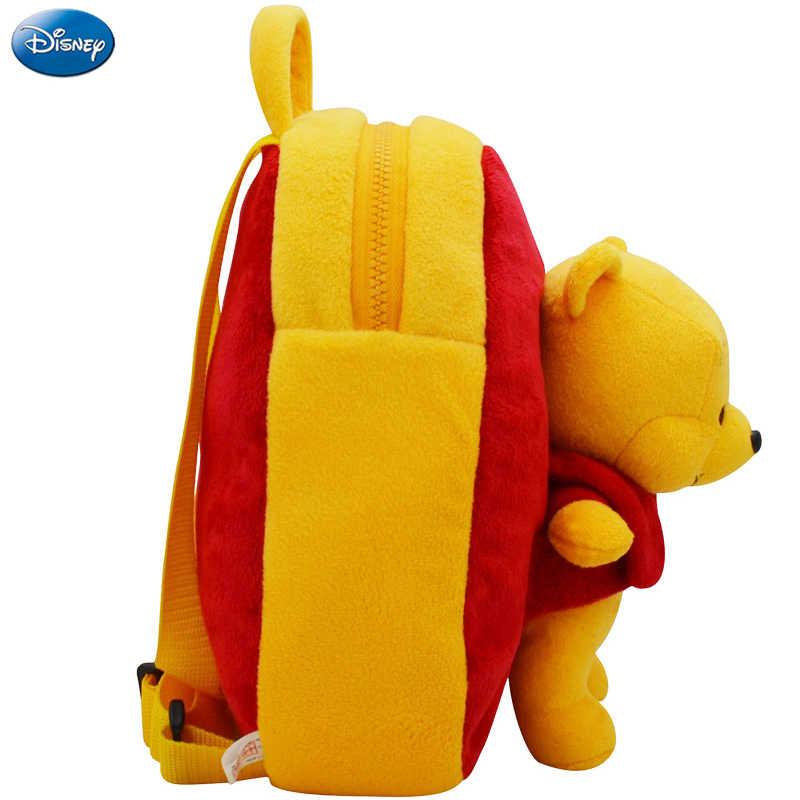 Настоящий рюкзак Дисней, плюшевая хлопковая кукла Винни 27 см, пух каваи, школьный ранец для детского сада, рождественский подарок, игрушка для ребенка