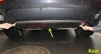 Металлический Нержавеющаясталь Передний + задний бампер Мини протектор Защитная панель 2 шт. для BMW X6 E71 2009 2010 2011 2012 2013 2014