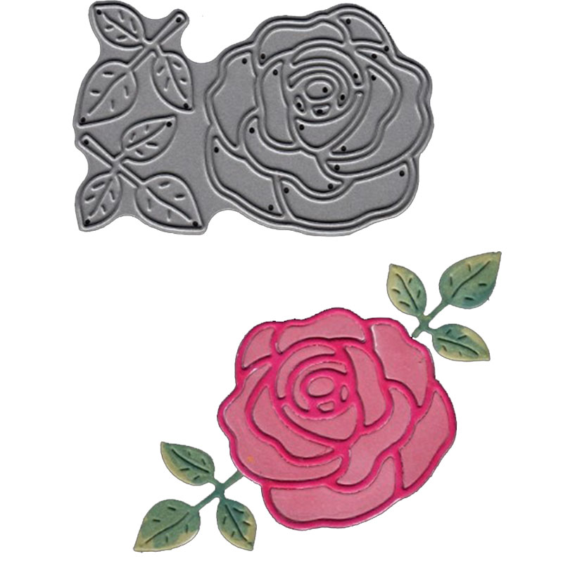 quot The Flowers quot Greetings Metal Cutting Dies for Scrapbooking Paper Album Photo Card Making Metal Die Cuts Crafts Christmas Gift in Cutting Dies from Home amp Garden