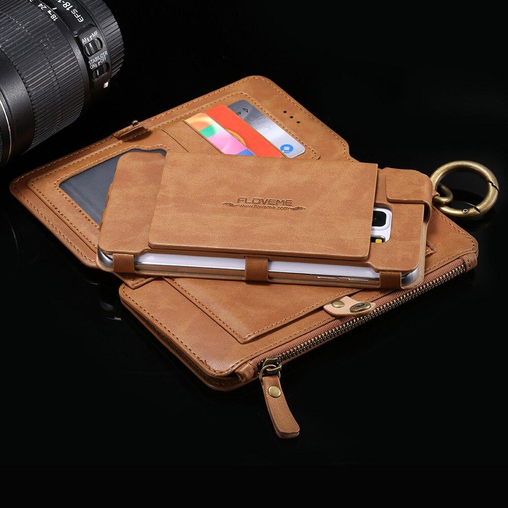 imágenes para Caja de la Carpeta de lujo Anillo de Metal Coque Tarjeta Monedero Cubierta Protectora Para Samsung Galaxy NOTE 3 4 5 S8/S7/S6/edge plus