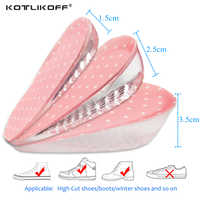 Women Increase Height Insoles Sole Autohesion Silicone Gel Stealth Increased Half Heel Shoe Cushion Gifts For Shoes Accessories