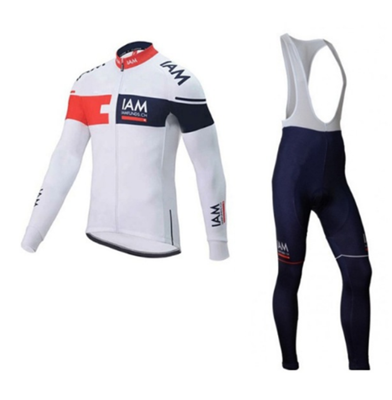 Ropa Ciclismo 2018 IAM Pro Cycling Jersey Men Pro Team Long Sleeve Set MTB Bike Clothing Breathable Sportswear pants 9D cheji team pro team sportswear long sleeve ropa ciclismo cycling jersey bicycle bike mtb cycle clothing 6d padded pants sets