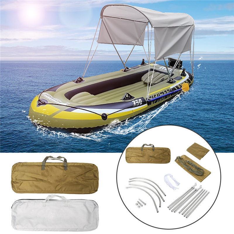 Inflate Boat Stainless steel Aluminum Round Tubes Bimini Top UV Waterproof Boat Cover with Boot and Hardware 170 x 100 x 110cm душевая стойка clever bimini 97057