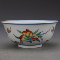 5 Antique QingDynasty porcelain bowl,pastry fruit bowl,Hand painted crafts,Collection&Adornment