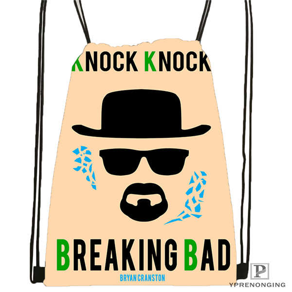 Custom Breaking_bad_by_luckino!1  Drawstring Backpack Bag Cute Daypack Kids Satchel (Black Back) 31x40cm#2018611-2(4)