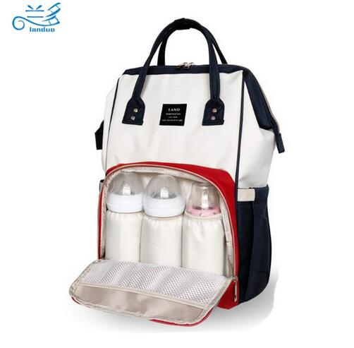 LAND Nappy Bags Big Capacity Baby Diaper Bag Waterproof Baby Care Nappy Changing Bag Fashion Mother Backpack for Travel fashion cute panda baby mummy diaper nappy bags keep fresh lunch breast milk bag thermal portable travel picnic hobos baby care