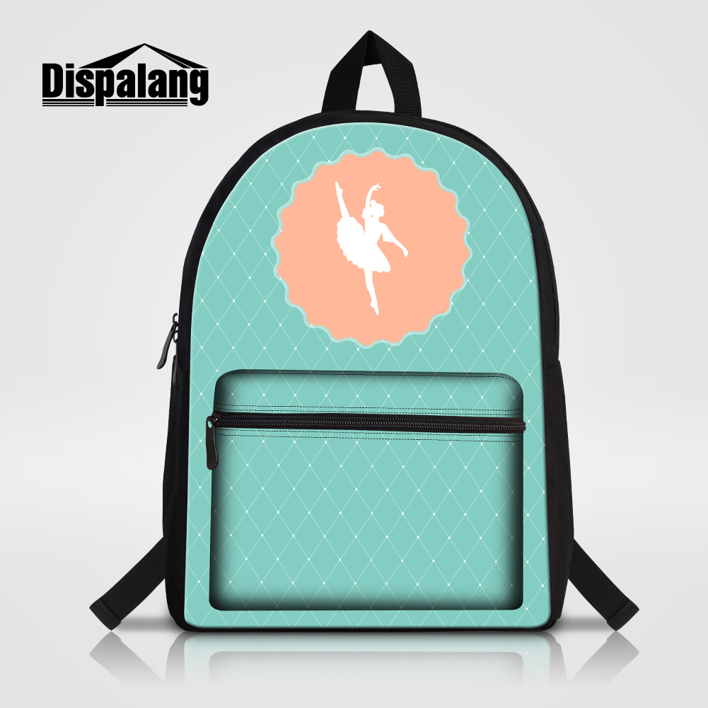 Dispalang Ballet Girl Printing School Backpack For Teenage Girls Lovely Gifts Bookbags Women Stylish Travel Shoulder
